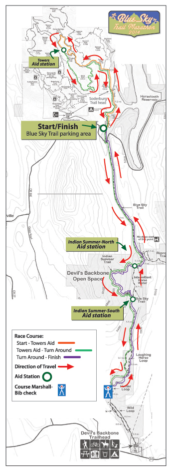 Blue Sky Trail Marathon Course Map