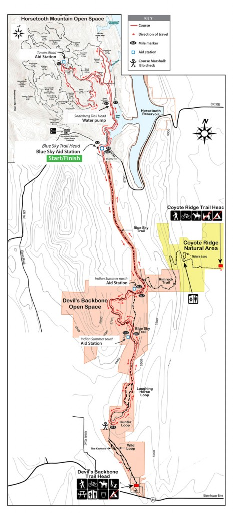 Blue Sky Marathon Course Map